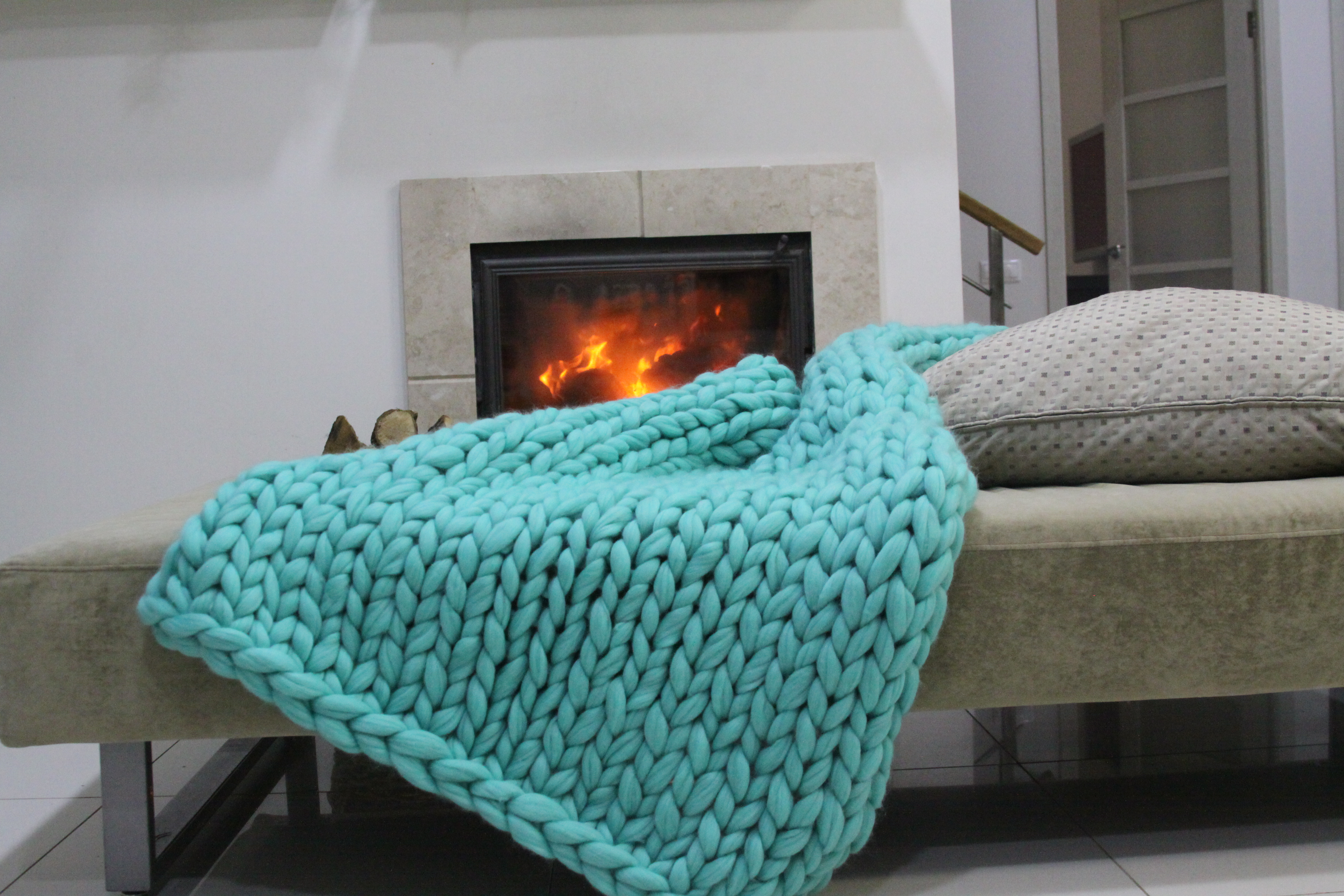 Nata Home Fashions Chunky Knit Blankets